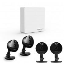 Komplettset Foscam FN3004H 4-Kanal Mini Videorekorder mit 4 x Foscam C1 Überwachungskameras