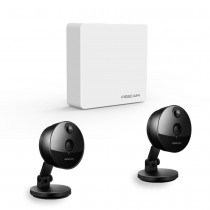 Komplettset Foscam FN3004H 4-Kanal Mini Videorekorder mit 2 x Foscam C1 Überwachungskameras