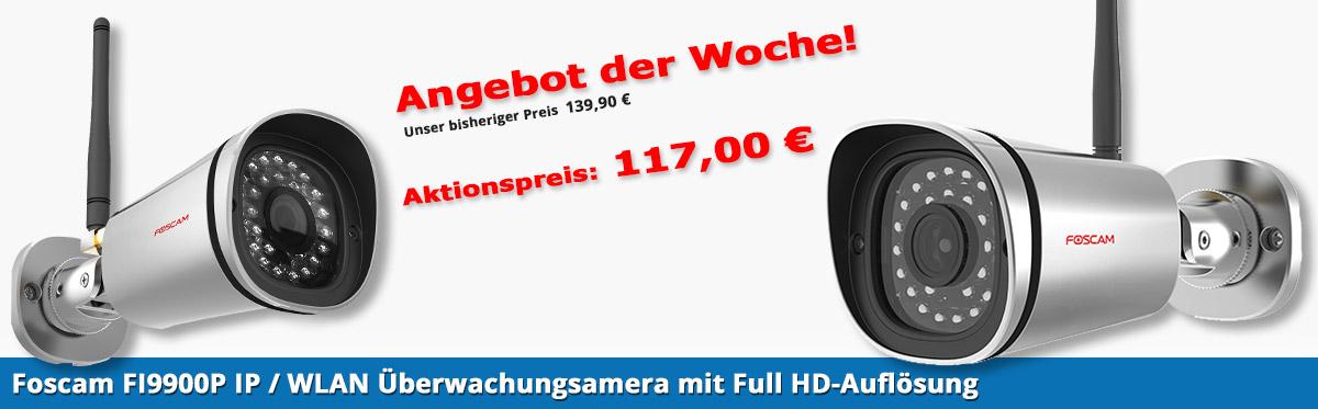 Foscam FI9900P IP / WLAN Überwachungsamera mit Full HD-Auflösung